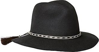 ále by Alessandra Womens Cavalo Adjustable Felt Hat with Horse Tail Trim, Black, Adjustable Head Size