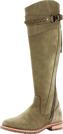 Ariat Womens Boots in Olive Leather, RM Width, Size 3.5, by Ariat