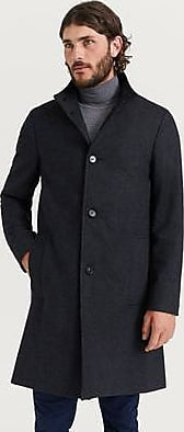 Calvin Klein Rock Wool Cashmere Blend Funnel Coat Grå