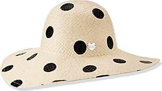 Betsey Johnson Womens Polka Dot Floppy Hat, Black, One Size