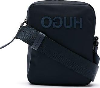HUGO BOSS Bolsa shoulder com logo - Azul
