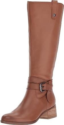 Naturalizer Womens Dev Leather Almond Toe Knee High Fashion, Saddle, Size 7.0 US / 5 UK US