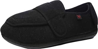 Insun Unisex Extra Wide Slipper Orthopaedic Memory Foam Shoes Black 11 UK Wide Women/11.5 UK Wide Men
