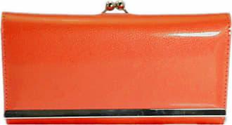 Girly HandBags New Girly Handbags Patent Glossy Wallet Ball Clasp Photo Elegant Evening Purse Colors Vintage (Neon Orange)