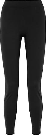 Wolford The Tux Satin-trimmed Stretch-jersey Leggings - Black
