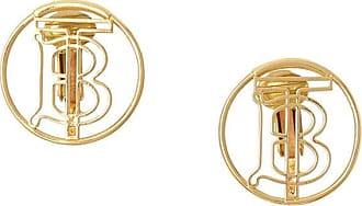 Burberry Par de brincos Thomas Burberry monogramado - Dourado