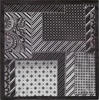 Etro Patchwork Print Pocket Handkerchief, Man, Black