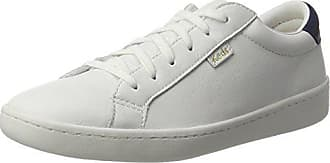 quality design 0ced6 754ee Keds Ace Core Leather - Scarpe Basse Stringate Donna, Bianco (Weiß (White