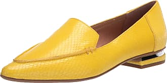 Franco Sarto Womens Starland Loafer Flat, Yellow, 7.5