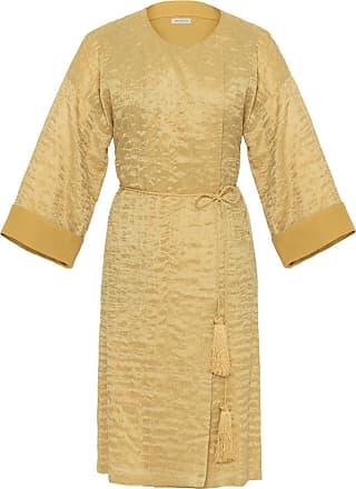The Crocale Ottoman Silk Kaftan Yellow
