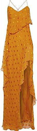 Michelle Mason Michelle Mason Woman Ruffled Silk-blend Fil Coupé Chiffon Gown Saffron Size 2
