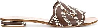 Casadei Catenassé chain flat slides - Brown