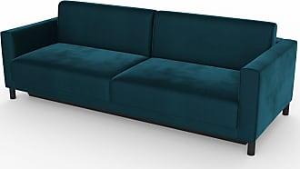 MYCS Schlafsofa Samt Nachtblau - Elegantes, gemütliches Bettsofa: Hochwertige Qualität, einzigartiges Design - 224 x 75 x 98 cm, konfigurierbar