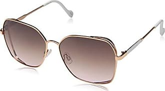Jessica Simpson Womens J5698 Rgdwh Non-Polarized Iridium Round Sunglasses Rose Gold White 60 mm