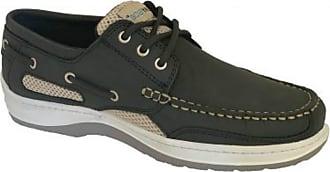 Quayside Sydney Mens Deck Shoe (Grey, 6.5)