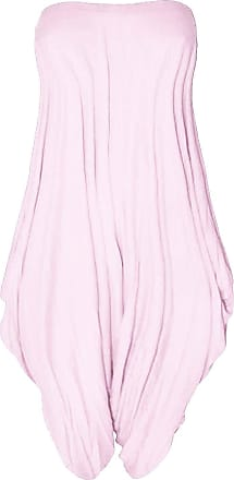 Be Jealous Womens Ladies Boobtube Lagenlook Italian Drape Baggy Fit Harem Playsuit Jumpsuit Baby Pink