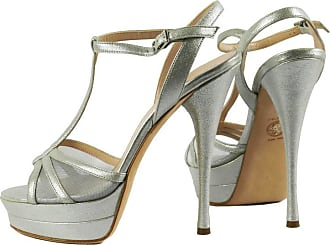6e200b7676d2 Versace Silver Leather Double Platform Sandals As Seen On Kate