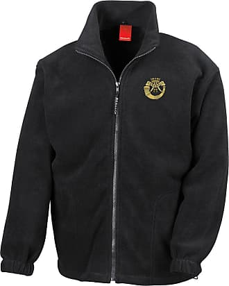 Military Online Duke of Cornwall Light Infantry Embroidered Logo - Official British Army Full Zip Heavyweight Fleece Jacket Black