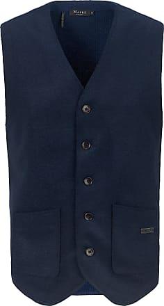 Maerz Waistcoat in 100% new milled wool MAERZ Muenchen blue