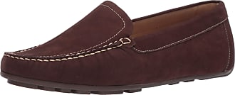 Driver Club USA Womens Leather Made in Brazil Driving Loafer with Venetian Detail, Brown Nubuck/Contrast Stitch, 5.5 UK