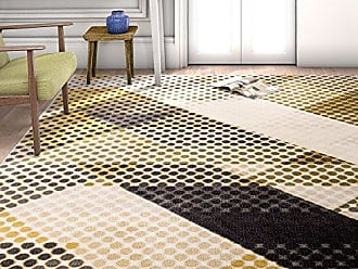 Well Woven LO-41-5 Mid-Century Abbey Modern Abstract Scrolls Yellow 53 x 73 Area Rug