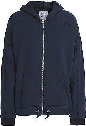 Zoe Karssen Zoe Karssen Woman Printed Cotton Hooded Jacket Navy Size XS