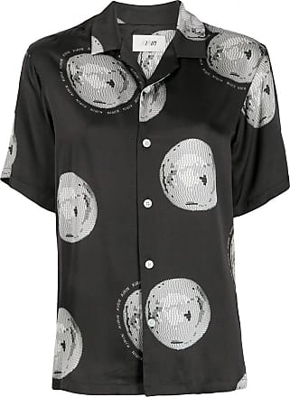 Kirin disco ball print shirt - Black