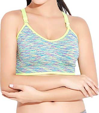 Abetteric Sutiã Abetteric feminino de compressão com costas nadador de alto impacto para ioga, Verde, US X-S=China S