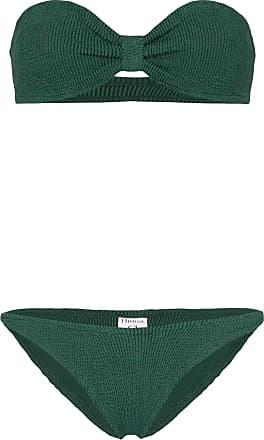 Hunza G Jean Nile bandeau bikini - Verde