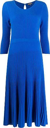 N.Peal ribbed knit dress - Blue