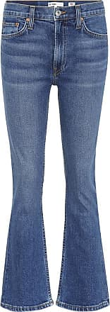 Re/Done Cropped mid-rise flared jeans