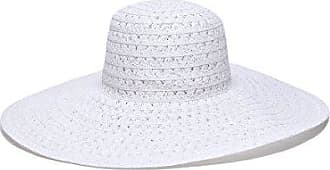 ále by Alessandra Womens Chantilly Lace Weave Toyo Floppy Hat, White, One Size