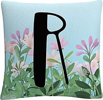 Trademark Fine Art Pink Floral Garden Letter Illustration R by ABC
