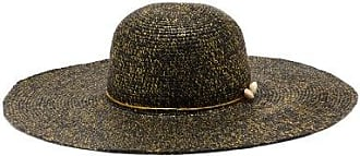 Sensi Studio Lady Ibiza Shell-embellished Straw Hat - Womens - Black Gold