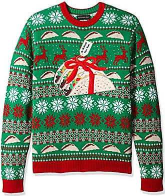 Blizzard Bay Mens Neon Space Ship Ugly Christmas Sweater Sweater