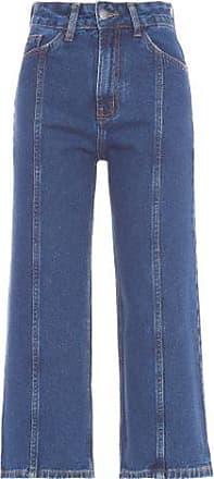 Vi And Co Calça Pantacourt Recorte Jeans Vi And Co. - Azul