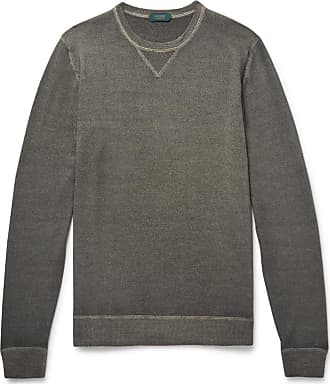 Incotex Garment-dyed Virgin Wool Sweater - Charcoal
