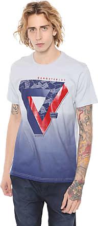 Gangster Camiseta Gangster Estampada Cinza