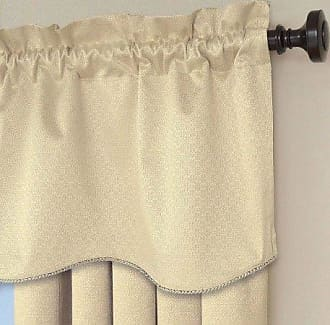 Eclipse 42 x 21 Short Valance Small Window Curtains Bathroom, Living Room, and Kitchens, 21-Inch, Ivory