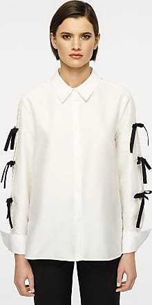 60423338e94ac White Long Sleeve Blouses  Shop up to −70%