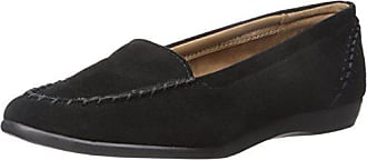 Aerosoles Womens Trending Slip-On Loafer, Black Suede, 7 M US