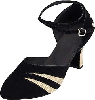 Insun Women Latin Dance Shoes Suede Ballroom Wedding Dancing Shoes Gold 7cm Heel 3.5 UK