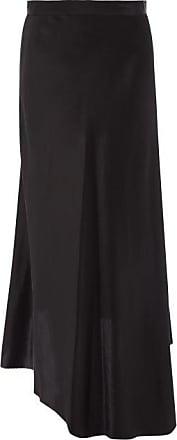 Raey Dip-hem Silk-satin Midi Slip Skirt - Womens - Black