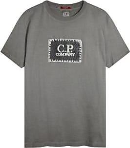 C.P. Company Grau Baumwolle 04CMTS072A000444S / 968 Kleidungsstück gefärbt gedruckte Label Tee - cotton | grey | l - Grey/Grey