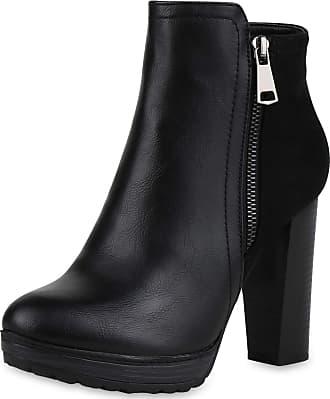 Scarpe Vita Women Bootee Platform Boots Lightly Lined Zipper Platform Front 165792 Black UK 3.5 EU 36
