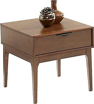 Progressive Furniture T106-04 Mid-Mod End Table, Brown