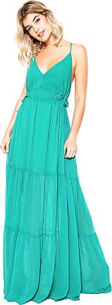 Colcci Vestido Colcci Longo Evasê Verde
