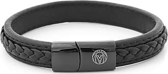 Lucléon Zwarte Leren Retro Armband