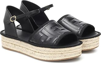 Fendi FF leather espadrille sandals