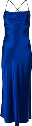 Dion Lee bias weave cowl dress - Blue